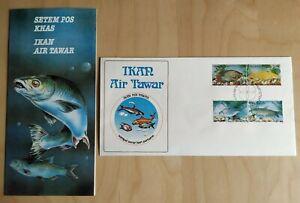 1983-Malaysia-Fresh-Water-Fish-4v-Stamps-FDC-Kuala-Lumpur-postmark-Lot-B