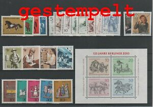 Germany-Berlin-vintage-yearset-1969-Postmarked-Used-complete-More-Sh-Shop
