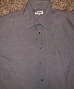 Giorgio-Armani-Le-Collezioni-Mens-Button-Down-Long-Sleeve-Shirt-Gray-Size-16-33