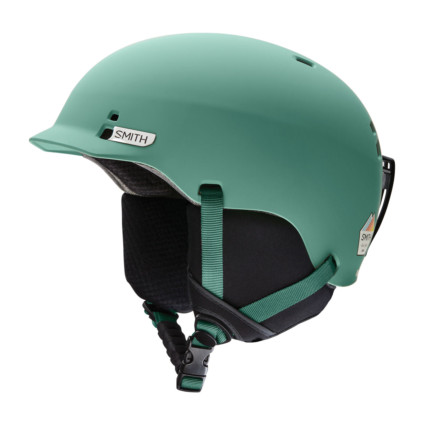 Smith  ski snowboard helmet gage green adjustable plain colours  welcome to buy