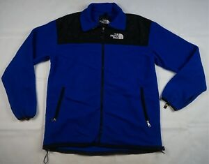 581f3b135 Details about Rare VTG THE NORTH FACE Spell Out GoreTex Denali Fleece  Jacket 90s TNF Blue XL