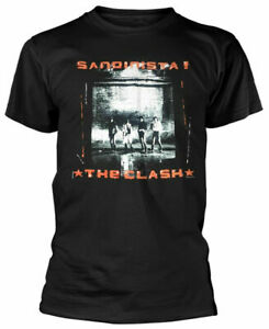 Official-The-Clash-T-Shirt-Sandinista-Mens-Black-Punk-Rock-Metal-Classic-Tee