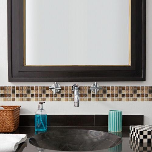 18pcs Mosaic Self-adhesive Tile Wall-Stickers Home Art-Decor 10*10cm Waterproof