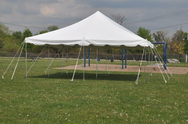 White 20 X Pole Tent Party Wedding Outdoor Canopy Shelter Marquee Gazebo