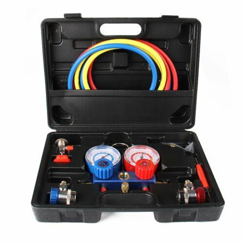 R134A R410a R22 HVAC A//C AC Refrigeration Kits Auto AC Manifold Vacuum Gauge Set