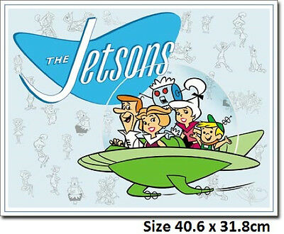 Jetsons Family Retro -Metal Tin Sign 1854  Large Variety - Post Discounts