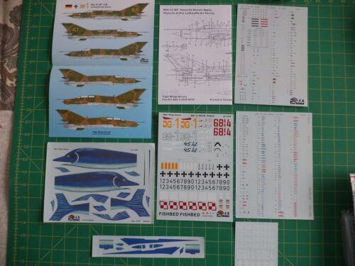 Mig 21 MF Fishbed Polish AF and German AF decals set Tiger Wings 32-120A