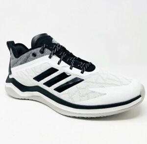 Adidas-Men-039-s-Speed-Trainer-4-Wide-Baseball-Shoes-CG5145-White-Core-Black-SZ-15