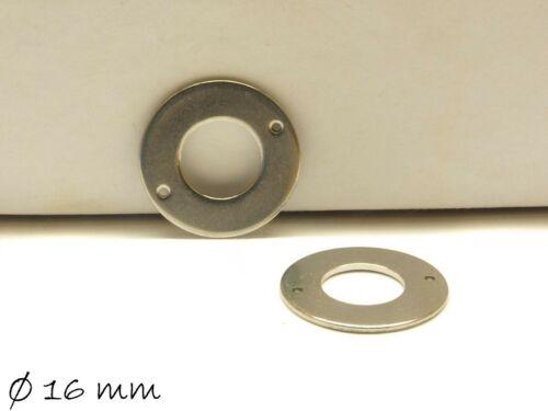 10 Stk Ø16mm Verbinder Donut Stempel-Plättchen Rohling Rund Edelstahl Silber