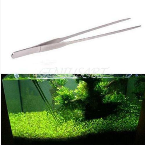 27CM Aquarium Plant Reef Tank Long Straight Tweezer Clip Scissor Stainless Steel