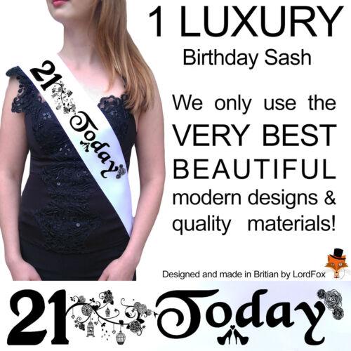 21ST Anniversaire Fille Fête Écharpe Soirée Accessoire Amusant Filles sashes TwentyFirst