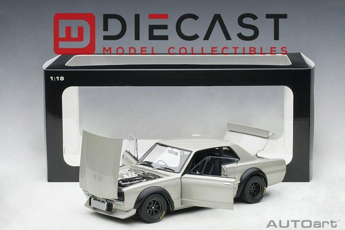 AUTOART 87277 Nissan Skyline GT-R (KPGC - 10) RACING 1972, argent 1 18TH échelle