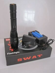 380-lumen-SWAT-Police-Dimmer-Zoom-LED-Flashlight-Torch-NEW