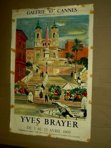 Affiche-Ancienne-Yves-Brayer-Cannes-1969-Litho-Poster-Peinture-Mourlot