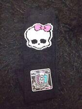 new Monster High cozy knee high socks 4-10 hosiery skull logo fuzzy soft Mattel