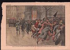 Georges Clemenceau l'anarchiste Émile Cottin Paris France 1919 ILLUSTRATION