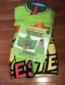 """Teenage Mutant Ninja Turtles Hooded Bath Towel 22.5""""x52"""" New TMNT"""