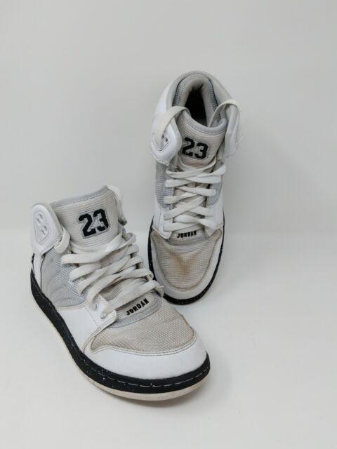 a72442a8149 Jordan 1 Flight 4 Premium 828237-100 White Pure Platinum Black Shoes SZ 6Y