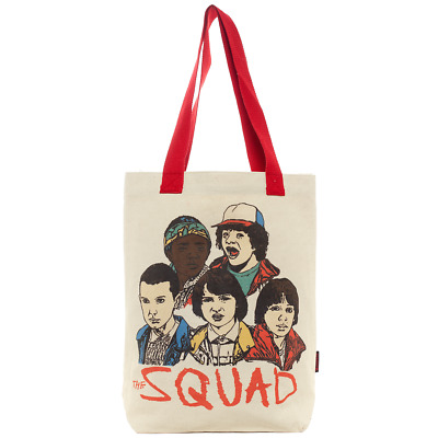 Loungefly Stranger Things Canvas Tote Bag Dustin Lucas Will Eleven Mike 11 New
