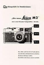 1959 Leica Wetzlar Kamera M2 Das Gespräch 14x20 cm original Printwerbung