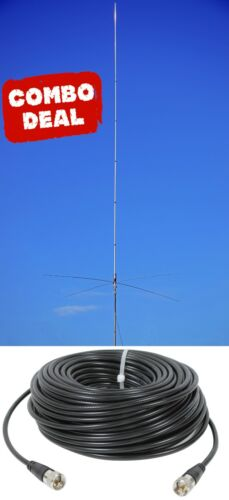 Sirio Tornado 50-60 Mhz Omni-Directional 6M Vertical Base Antenna with 50Ft Coax