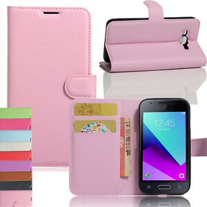 Vintage-PU-Portefeuille-Cuir-Coque-Support-pour-Samsung-Galaxy-J1-Mini-Prime