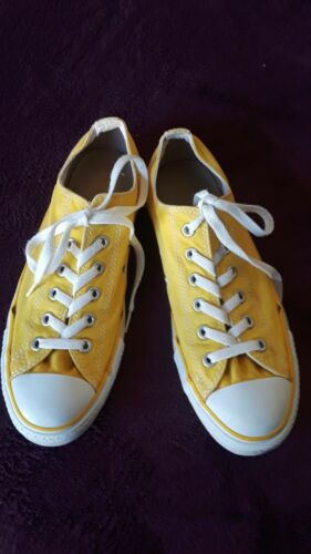 Yellow Converse All Star Tennis Shoes,  Unisex M8/
