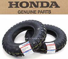 "Genuine Honda Tractor Grip Front Rear Tires Tire Set 3.50-8"" 79-99 Z50R Z50 #O01"