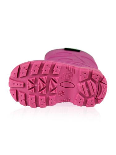 Dirt Boot ® Garçons Filles Thermique Hiver Wellington Wellies Enfants Pluie Neige Bottes