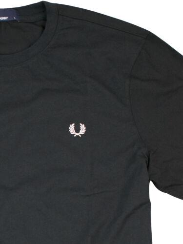 Fred Perry Herren Woven Trim T-Shirt M4503 102 Schwarz 7370