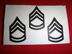 Group-Of-3-US-Army-SERGEANT-1st-Class-Metal-Subdued-Badges-With-Clutchback-Pins