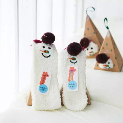 Adults Gift Set Box Santa Coral Fleece Slipper Socks Lovely Xmas Christmas Sock