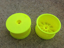 "2.2"" 1/10 Losi 22 2.0 TLR7101 Yellow Rear Buggy Wheels Rims 2wd 12mm TLR22/B5M"