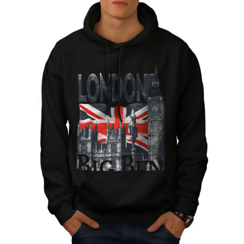 Mens Sweatshirt New Tower Black Big Wellcoda Hooded Casual Hoodie AnRzw5w6xq