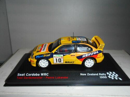 SEAT CORDOBA WRC RALLY NEW ZEALAND 1999 GARDEMEISTER SEAT SPORT ALTAYA IXO 1:43