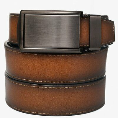 SlideBelts Factory Seconds Men's Cognac Full Grain Leather Ratchet Belt