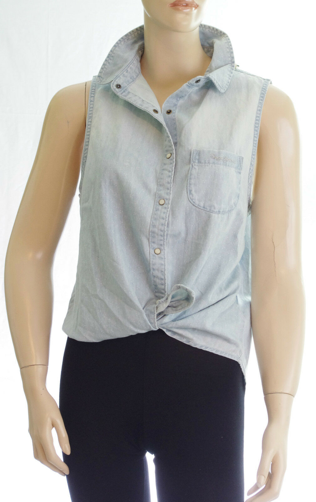 PEPE JEANS Chemise jeans sans manches Donna  MADISON blue