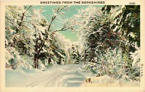 Vintage Postcard - Un-Posted Greetings from The Berkshires New York NY #3599