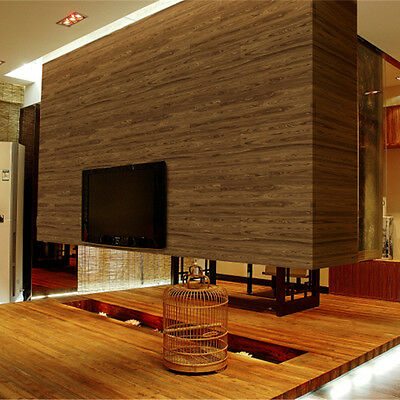 Nature Wood Paneling Timber Plank 3D Textured Wallpaper Sample KZ0601