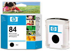 GENUINE-ORIGINAL-2014-DATE-HP-84-BLACK-C5016A-10PS-20PS-50PS-120-NR-FAST-POSTAGE
