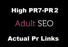 350 Quality Links PR7-PR4 on ACTUAL PAGE to your ADULT / GAMBLING site . SEO