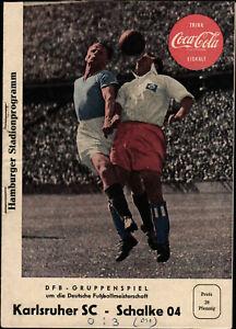 Deutsche Meisterschaft 57/58 Karlsruher SC - FC Schalke 04, 10.05.1958 Hamburg