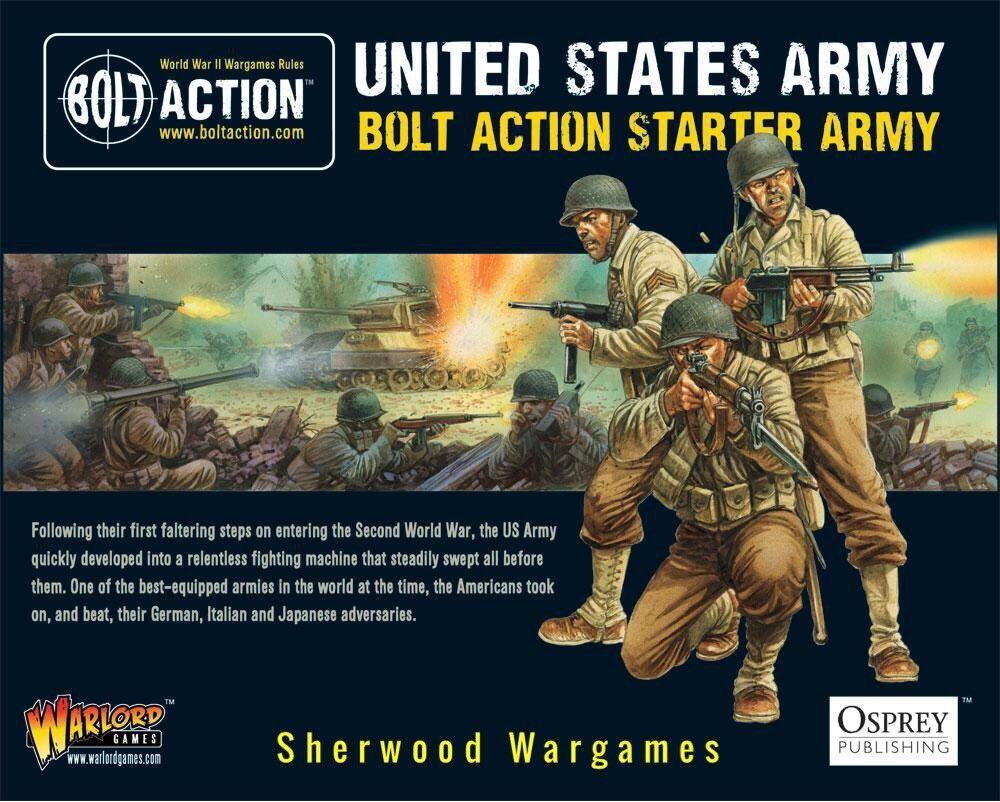 28mm Warlord Games Estados Unidos Ejército de Arranque Perno de acción de la Segunda Guerra Mundial Nuevo Y En Caja