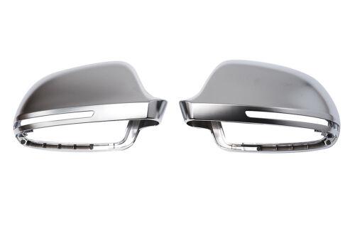 Para audi a4 s4 8k Alu Matt cubierta de espejo espejo capuchón Carcasa Aluminio