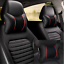 2PCS-Leather-Knitted-Car-Pillows-Headrest-Neck-Cushion-Support-Seat-Accessory thumbnail 2