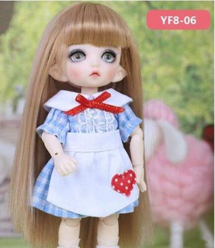 White t-shirt//lattice// pink blue dress clothes for1//8 BJD Doll SD Doll Lati body
