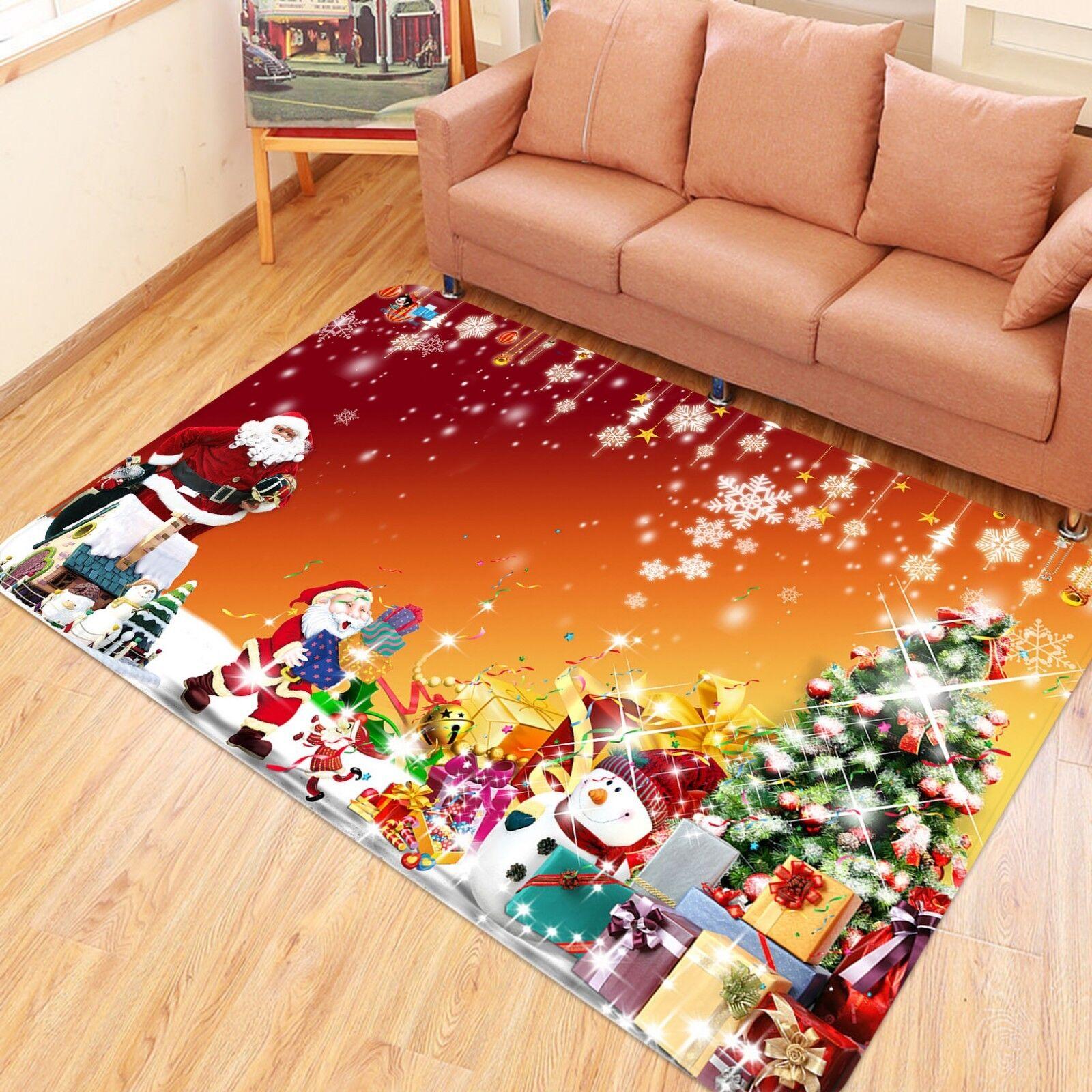 3d navidad Xmas árbol fiesta 3 non-slip Carpet mat quality elegante Carpet de