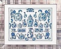 Blue China Cross Stitch Kit by Permin of Copenhagen Design No 70-5132 Craft Supplies