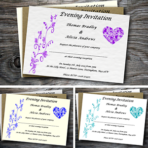Personalised-postcard-style-wedding-evening-invitations-with-envelopes