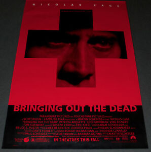 BRINGING OUT THE DEAD(1999)NICHOLS CAGE SCORSESE THRILLER ORIGINAL 1 SH ROLLED